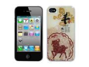 For Iphone 4s/4 Goat-chinese Zodiac Collection Dream Back Protector Cover
