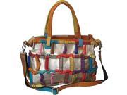 Amerileather Rainbow Ringlet Handbag