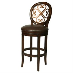 Devon Coast Barstool Upholstered in Bonded Ridge Leather