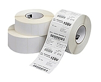 A direct thermal bright white coated paper label for printing high contrast black visible light images in cold temperature applications