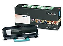The Lexmark E46X Series E460X21A Extra High Yield Toner Cartridge for the E460 Series Printers yields 15000 pages.