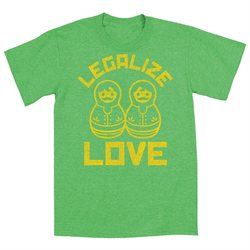 Legalize Love Male Nesting Doll Russia Gay Rights - Mens T-Shirt - Green - X-Large