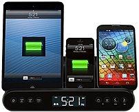 Capello Cr220 Clock Radio And Universal Charging Stand - Black