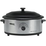 Nesco 4816-25pr 6 Qt Stainless Steel Porcelain Cookwell Blk Lid
