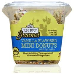 Gourmet 5 Vanilla Flavored Mini Donuts Dog Treat, Biscuits and Cookies, Adult, Puppy, Senior, Dogs