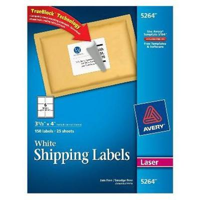 Avery Dennison 5264 Address & Shipping Labels - White - 25 Pcs. 6) Address Labels