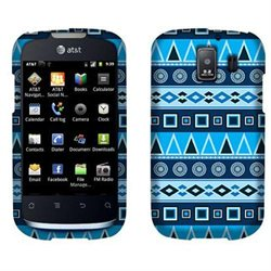 Huawei Fusion 2 U8665 Hard Case Cover - Blue Aztec