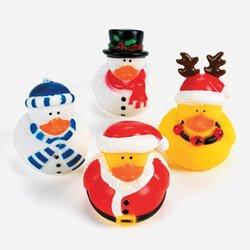 12 CHRISTMAS Rubber Duckies/DUCKS/Santa Snowman Reindeer/TOYS/Collectibles