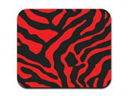 Zebra Print - Red and Black Mousepad Mouse Pad