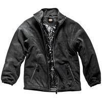Dickies Mens Padded Fleece Jacket Black Medium