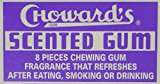 Choward's Scented Chewing Gum, Uniquely Refreshing Flavor - 8 Tablets per Package, 24 Packages per Box