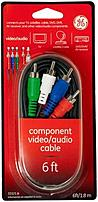 The GE 33321 6.0 feet Component Audio Video Cable connects an audio video device to a TV, AV receiver or other audio video device with component video jacks