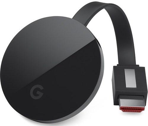 Google Ga3a00403a14 Chromecast Ultra Streaming Video Device - Black