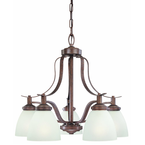 Thomas Lighting Sl813523 Hampshire 5-light Chandelier, Colonial Bronze Finish