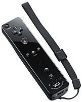 Nintendo Rvlapnk1 Wii Remote With Motion Plus - Black