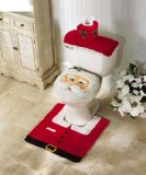 Generic Santa Toilet Seat Cover and Rug Set