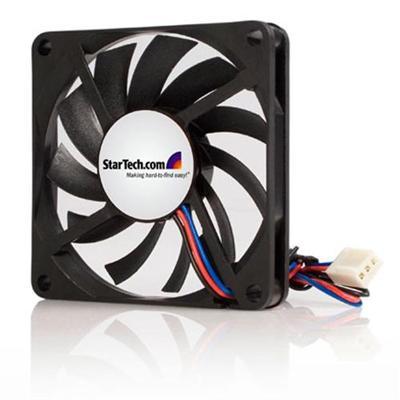 Startech.com Fan7x10tx3 Replacement 70mm Tx3 Dual Ball Bearing Cpu Cooler Fan - Case Fan - 70 Mm - Black