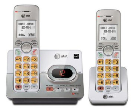 At&t El52203 2-handset Cordless Phone System With Caller Id/call Waiting - Dect 6.0 - Upto 14 Minutes Recording Time