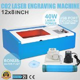 Co2 Laser Engraving Cutting Machine 3020 Laser Engraver with Usb or Parallel Port Support Winsealxp 2013 40w 200*300mm Duty Free