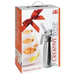 iSi Creative Whip 0.5 L 1 Pint Set Whipped Cream Dispenser Gourmet Whipper
