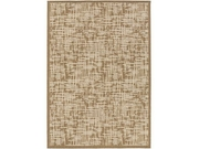 5.25' X 7.5' Earthly Statics Tan Brown And Antique White Area Throw Rug