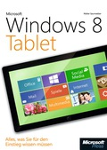 Steigen Sie ein in die Windows 8 Tablet-Welt! Ob Sie im Internet surfen, Fotos und Filme ansehen oder mit Ihren Freunden kommunizieren möchten – mit diesem farbigen Praxisbuch finden Sie sich schnell zurecht