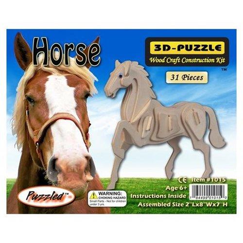 3-D Wooden Puzzle -Horse