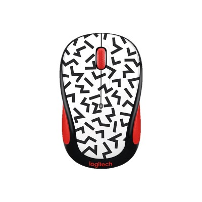 Logitech 910-004745 Party Collection M325c - Mouse - Optical - 5 Buttons - Wireless - 2.4 Ghz - Usb Wireless Receiver - Red Zigzag