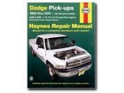 Haynes Repair Manuals Dodge Pick-ups