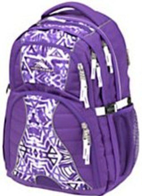 High Sierra 75541-4945 Swerve Backpack For 17-inch Laptops - Shibori Purple