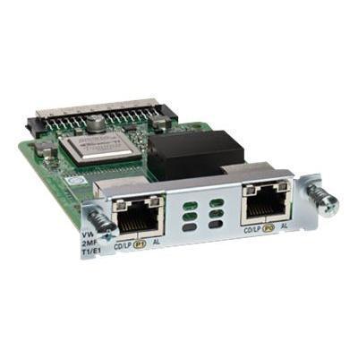 Cisco Vwic3-2mft-t1/e1 Third-generation Multiflex Trunk Voice/wan Interface Card - Expansion Module - Ehwic - T1/e1 X 2 - T-1/e-1 - For  1921  1921 4-pair  1921