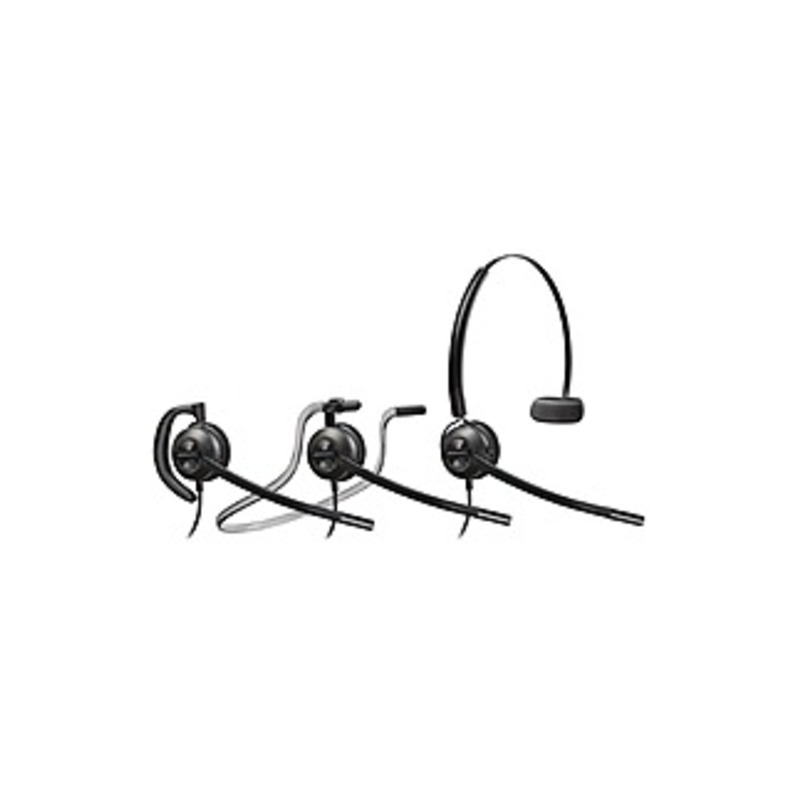 Plantronics Encorepro 540 Customer Service Headset - Mono - Wired - Over-the-ear, Over-the-head, Behind-the-neck - Monaural - Supra-aural - Noise Canc