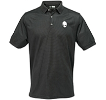 The Alienware AWSPBXL Gaming Gear Polo is candy for the eye as well as protection for your gaming self