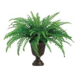 Pack of 4 Artificial Vibrant Green Boston Ferns with Pots 22
