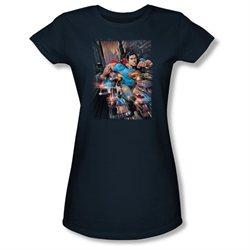 Girls(8-12yrs) SUPERMAN Cap Sleeve ACTION COMICS #1 XLarge T-Shirt Tee