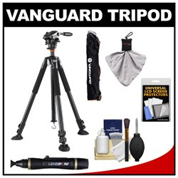 Vanguard ABEO Plus 323AV 75 Aluminum Alloy Tripod & PH-123V Video Pan Head with Case   Accessory Kit