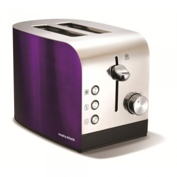 Apr12 Accents Plum Stainless Steel 2 Slice Toaster