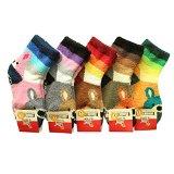 Children Multi Color Anti Skid Fuzzy Socks 5Pairs (5-7 Years)