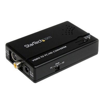 Startech.com Vid2vgatv2 Composite And S-video To Vga Video Scan Converter - Video Converter - Composite Video  S-video - Component Video  Vga - Black