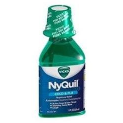 Vicks 44 Nyquil Cold and Flu Relief Liquid, Original Flavor, 8 Ounce