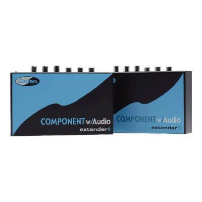 Component Audio Extender Sender and Receiver Units - video/audio extender