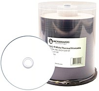 The Microboards MIC DVD R EVR100 White Everest Hub Printable DVD R Media allows for beautiful full color printing