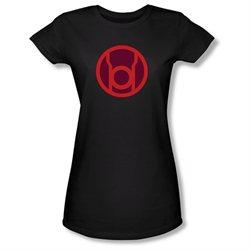Girls(8-12yrs) GREEN LANTERN Cap Sleeve RED SYMBOL Large T-Shirt Tee