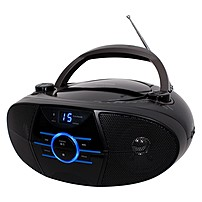 Jensen Portable Stereo Compact Disc Player With Am/fm Stereo Radio And Bluetooth - 1 X Disc - 3 W Integrated Stereo Speaker - Black Led - Cd-da, Mp3 - Auxiliary Input Cd-560