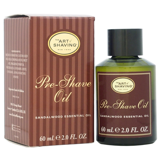 Pre- Shave Oil - Sandalwood by The Art of Shaving for Men - 2 oz Oil