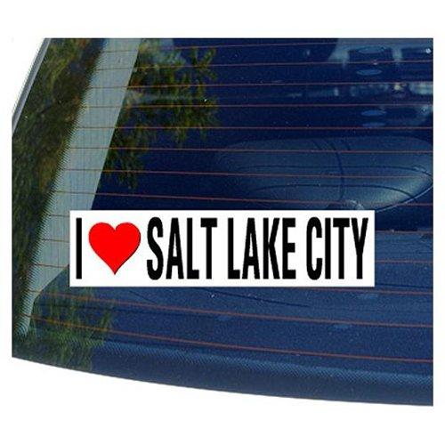 I Love Heart SALT LAKE CITY - Utah Sticker - 8 (width) X 2 (height)