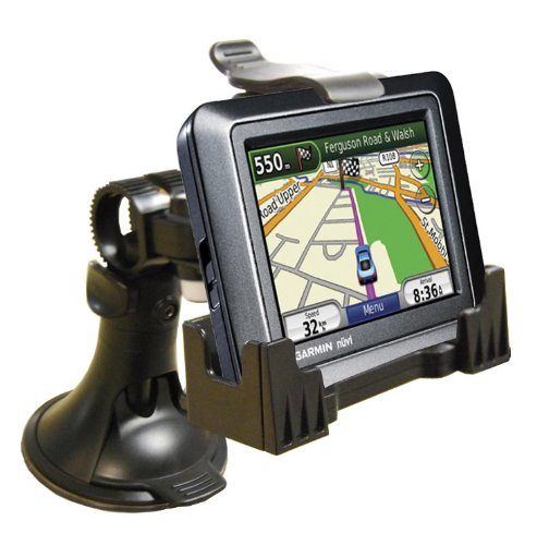 3-in-1 GPS Car Mount for the Garmin Nuvi- 3-Way Adjustable Angle for Optimal View - Includes Window Suction Mount, Dashboard Mount and Vent Clips
