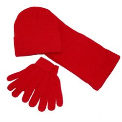 Stretch Hat Scarf and Glove Set