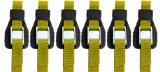 Riverside Cartop Carriers HD Utility Straps (6-Pack) with Backpack, Yellow, 12-Feet