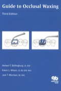 A sturdy manual styled for convenient reference during occlusal waxing